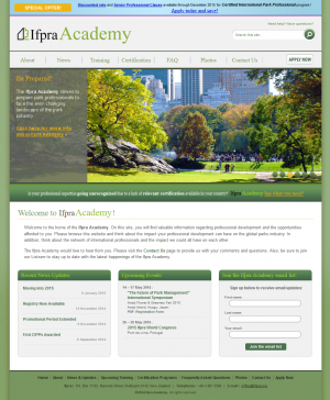 Ifpra Academy Homepage